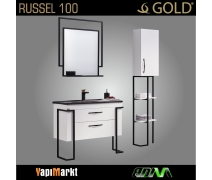GOLD Russel 100cm Banyo Dolabı
